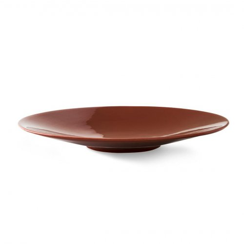 SUNNY Centerpiece ceramic GLOSSY RUST BROWN
