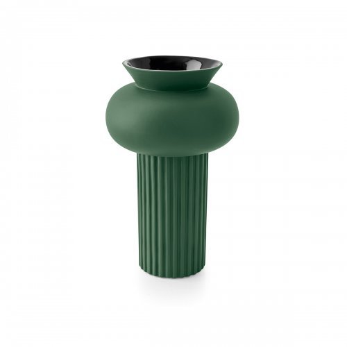 IONICO Vase ceramic MATT FOREST GREEN