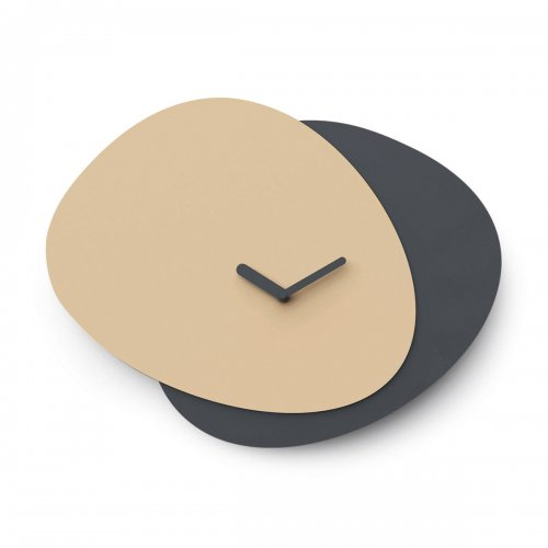 ALLORA Wall clock Aluminium MATT NOUGAT/MATT GREY