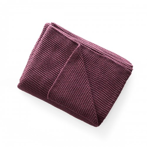 CANTWELL Throw cotton BURGUNDY RED