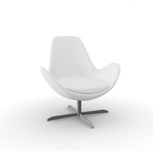 ELECTA Frame P66 met. SATIN FINISHED NICKEL  Seat 705 soft leather OPTIC WHITE