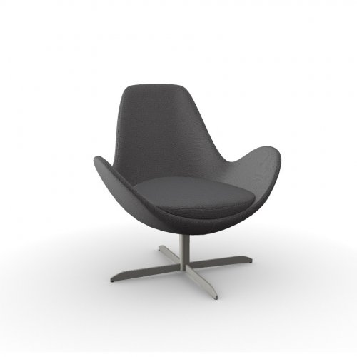 ELECTA Frame P66 met. SATIN FINISHED NICKEL  Seat SQ1 Malmo ANTHRACITE GREY