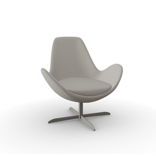 ELECTA Frame P66 met. SATIN FINISHED NICKEL  Seat SQ4 Malmo TAUPE