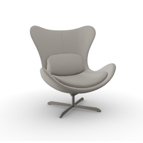 LAZY Frame P66 met. SATIN FINISHED NICKEL  Seat SQ4 Malmo TAUPE