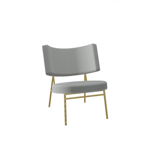 COCO Frame P175 met. POLISHED BRASS  Seat S0L Venice ASH GREY