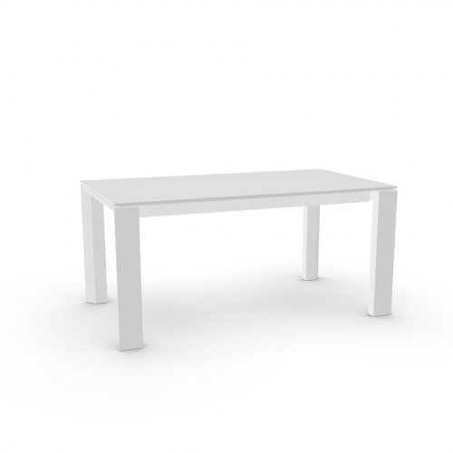 OMNIA GLASS Top GEW temp.glass FROSTED EXTRACLEAR  Frame P93 lacq. GLOSSY OPTIC WHITE  Legs P94 lacq. MATT OPTIC WHITE
