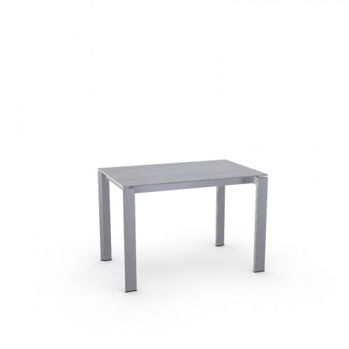 DUCA Top P18W mel. BETON GREY  Frame P95 met. SATIN FINISHED STEEL  Legs P95 met. SATIN FINISHED STEEL