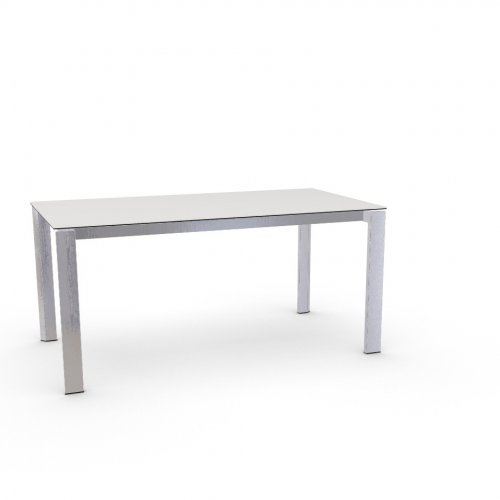 DUCA Top P117 ceramic (g) WHITE  Frame P74 met. POLISHED ALUMINIUM  Legs P77 met. CHROMED