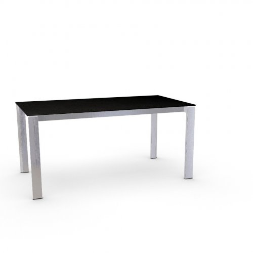 DUCA Top P133 ceramic (g) STONE GREY  Frame P74 met. POLISHED ALUMINIUM  Legs P77 met. CHROMED