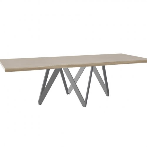 CARTESIO Top P19W oak ven. NATURAL OAK  Frame P16 met. MATT GREY  Legs P16 met. MATT GREY