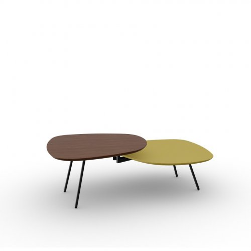 TWEET Base P15 met. MATT BLACK  Top P201 ven.fin. WALNUT  Top P139 lacq. MATT MUSTARD YELLOW