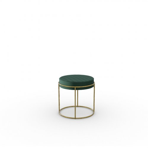 ATOLLO Frame P175 met. POLISHED BRASS  Seat S0H Venice FOREST GREEN