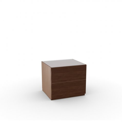 CITY Frame P201 wlnt ven. WALNUT  Drawers P201 wlnt ven. WALNUT  Top GXW temp.glass FROSTED EXTRAWHITE