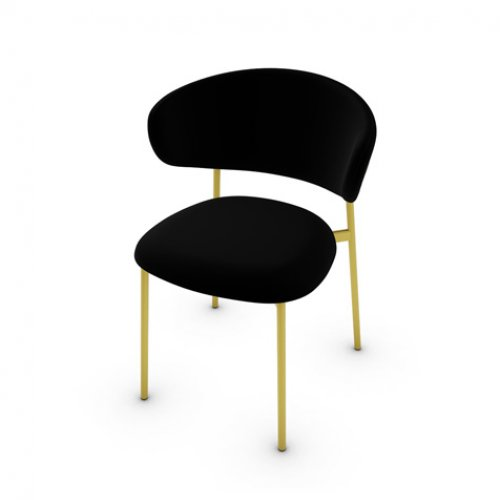 CS2031 OLEANDRO Frame P175 met. POLISHED BRASS Seat S0Y Venice BLACK