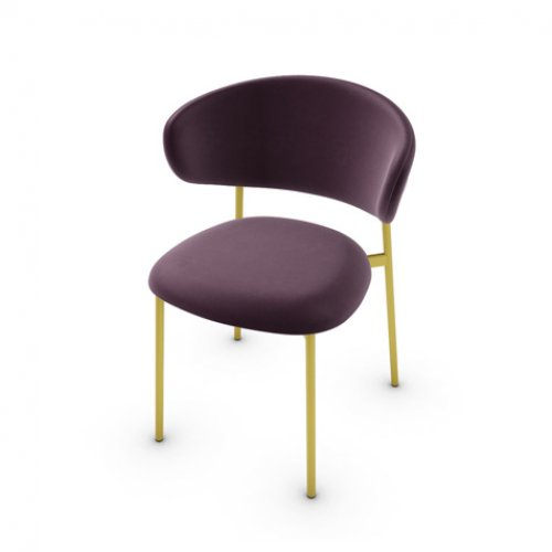 CS2031 OLEANDRO Frame P175 met. POLISHED BRASS Seat SLU Softer BURGUNDY