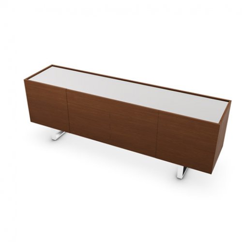 CS6017-1A HORIZON Frame P201 wlnt ven. WALNUT Top GEW temp.glass FROSTED EXTRACLEAR Base P77 met. CHROMED
