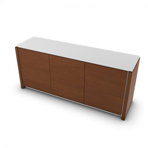 CS6029-6 MAG Internal frame P262 mel. WHITE Door P201 wlnt ven. WALNUT Top GEW temp.glass FROSTED EXTRACLEAR