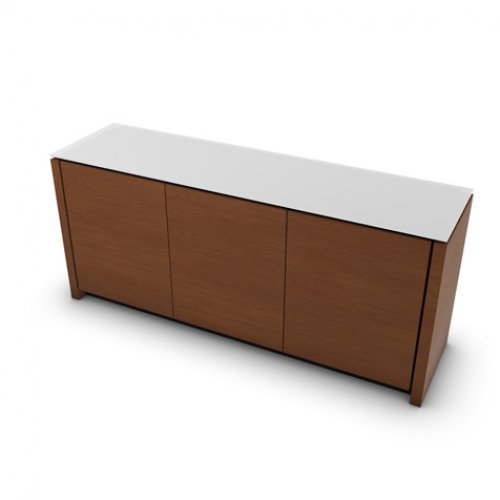 CS6029-6 MAG Internal frame P278 mel. BLACK Door P201 wlnt ven. WALNUT Top GEW temp.glass FROSTED EXTRACLEAR