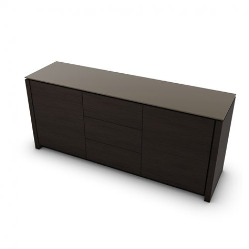 CS6029-10A MAG Internal frame P278 mel. BLACK Doors/drawers P12 ven.fin. SMOKE Top GTA temp.glass FROSTED TAUPE
