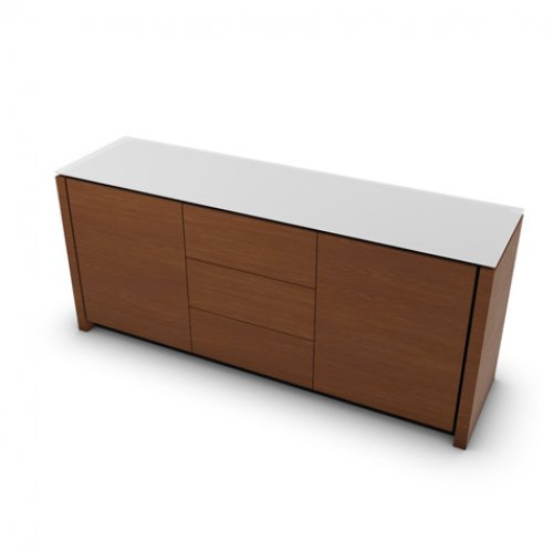 CS6029-10A MAG Internal frame P278 mel. BLACK Doors/drawers P201 wlnt ven. WALNUT Top GEW temp.glass FROSTED EXTRACLEAR