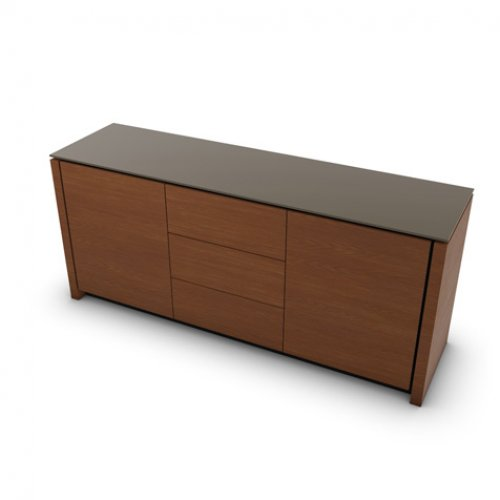 CS6029-10A MAG Internal frame P278 mel. BLACK Doors/drawers P201 wlnt ven. WALNUT Top GTA temp.glass FROSTED TAUPE