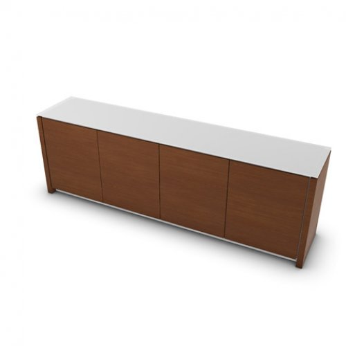 CS6029-7 MAG Internal frame P262 mel. WHITE Door P201 wlnt ven. WALNUT Top GEW temp.glass FROSTED EXTRACLEAR